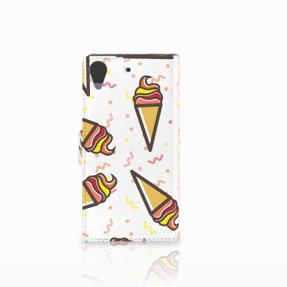 HTC Desire 628 Book Cover Icecream