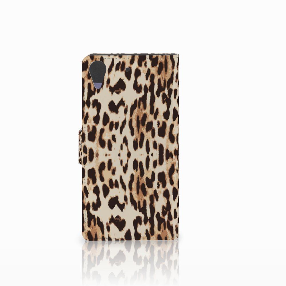 HTC Desire 628 Telefoonhoesje met Pasjes Leopard