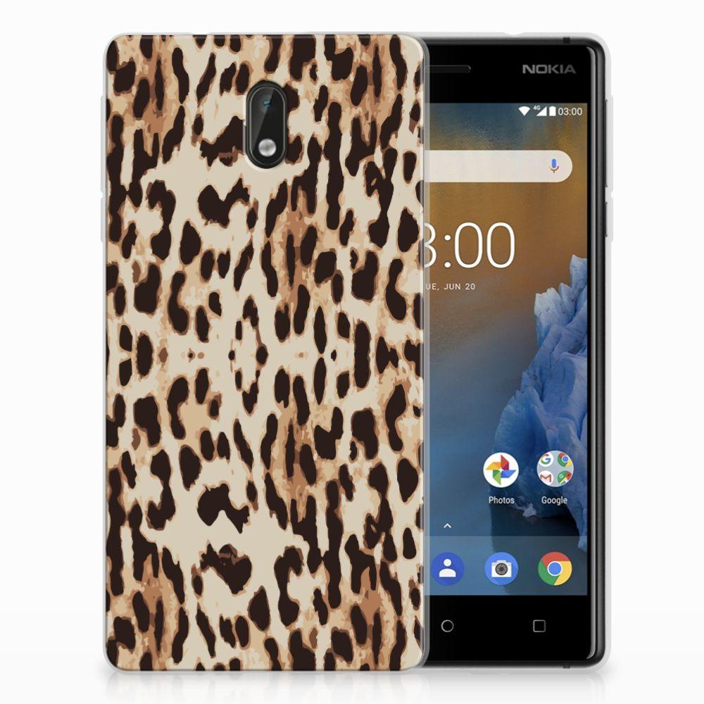 Nokia 3 Uniek TPU Hoesje Leopard