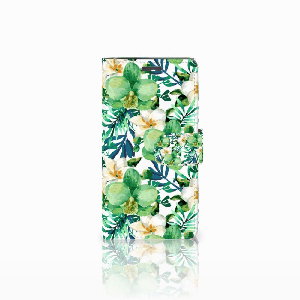 Lenovo K6 Uniek Boekhoesje Orchidee Groen