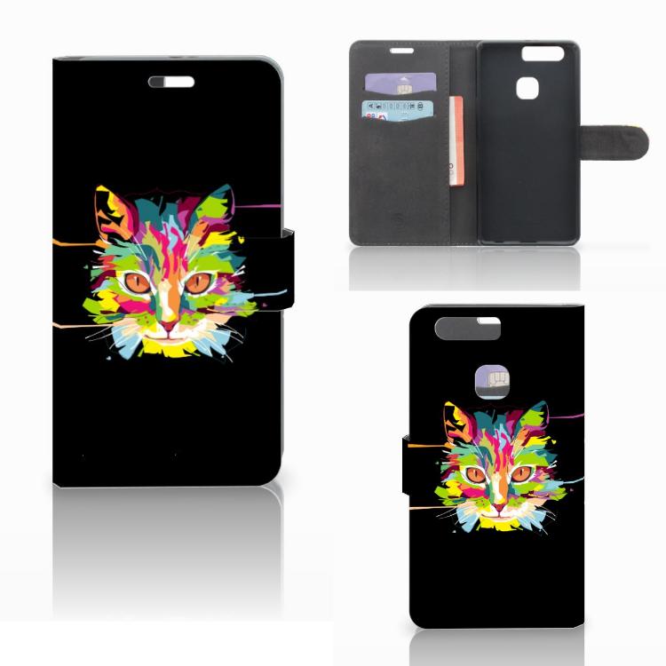 Huawei P9 Plus Leuke Hoesje Cat Color