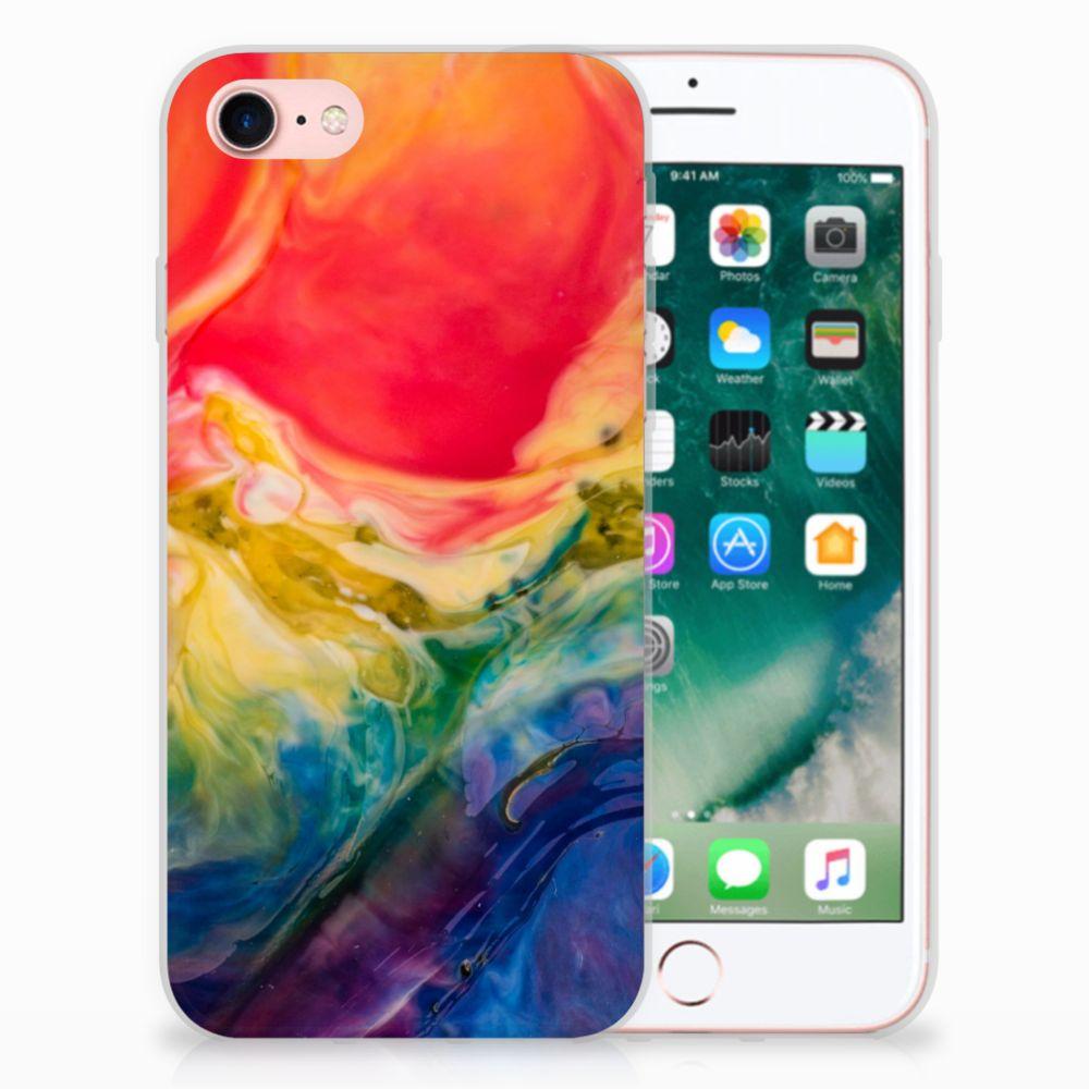 Apple iPhone 7 | 8 Uniek TPU Hoesje Watercolor Dark