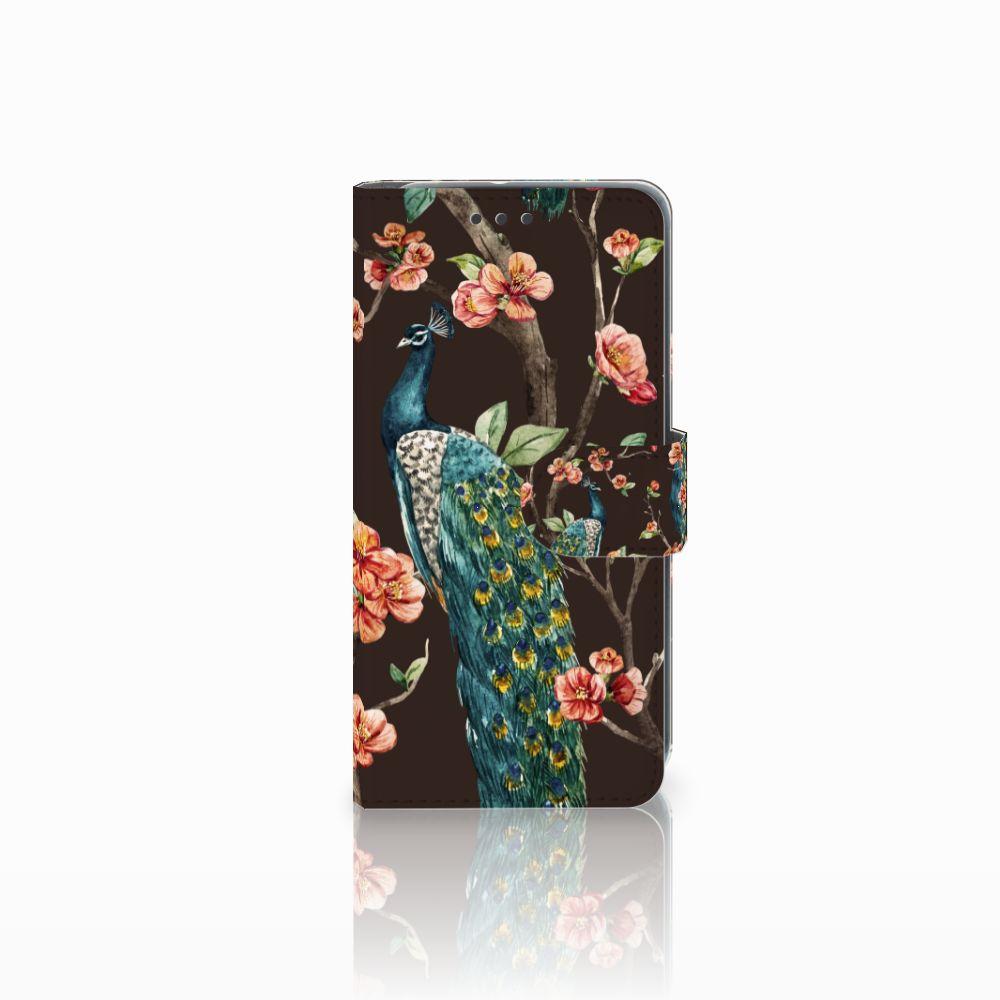 HTC U11 Life Boekhoesje Design Pauw met Bloemen