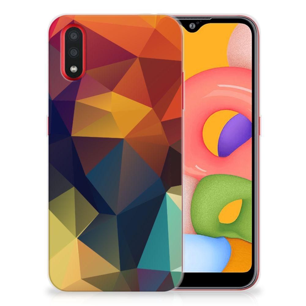 Samsung Galaxy A01 TPU Hoesje Polygon Color