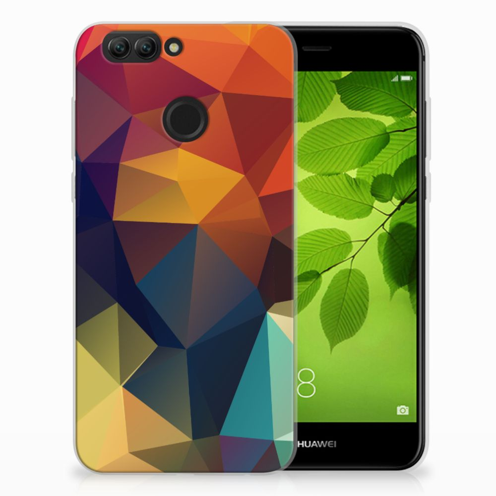 Huawei Nova 2 TPU Hoesje Polygon Color