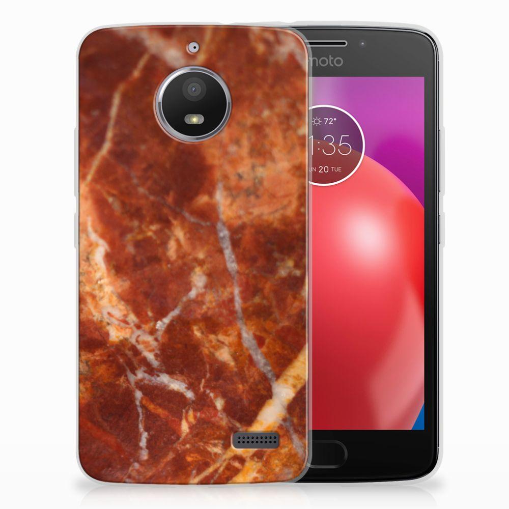 Motorola Moto E4 TPU Hoesje Design Marmer Bruin