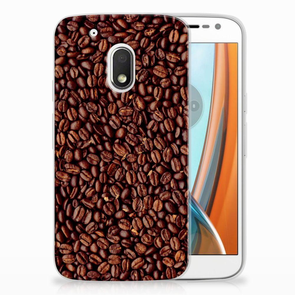 Motorola Moto G4 Play Siliconen Case Koffiebonen