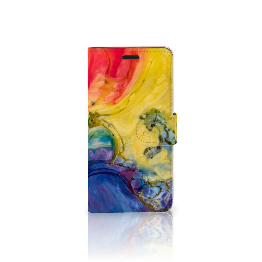 HTC 10 Uniek Boekhoesje Watercolor Dark