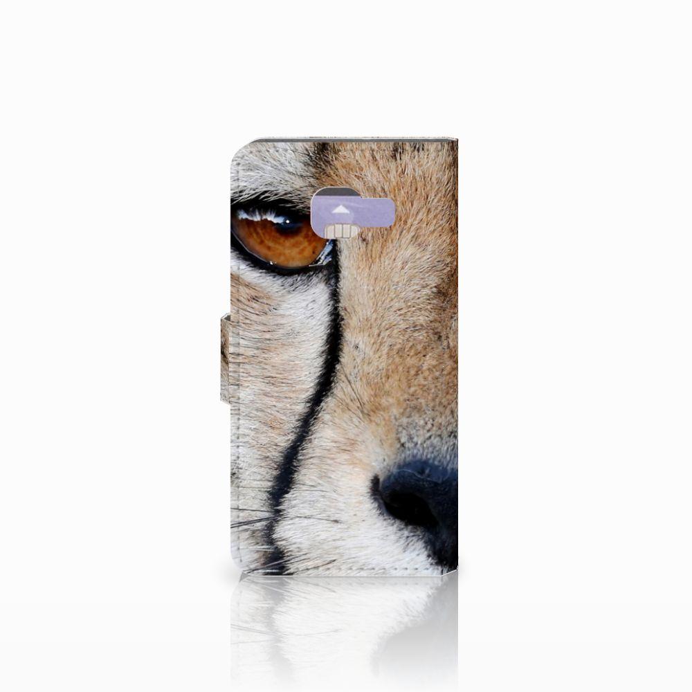 Samsung Galaxy A3 2016 Telefoonhoesje met Pasjes Cheetah