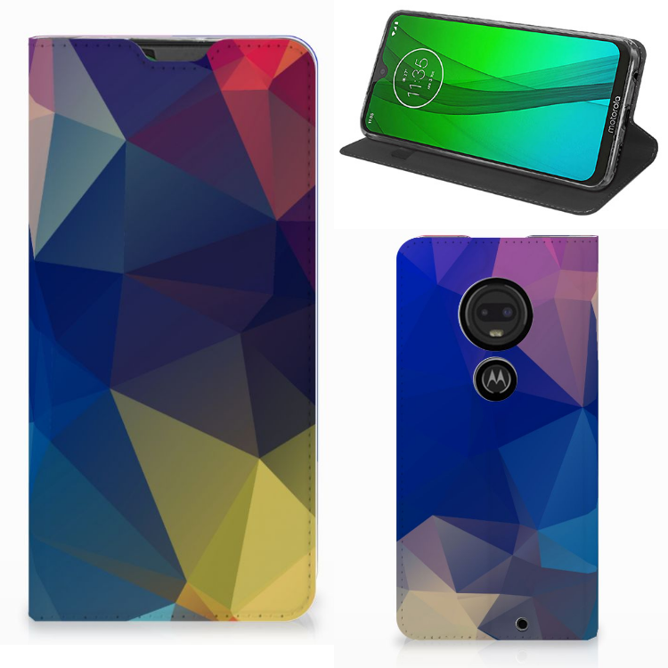 Motorola Moto G7 | G7 Plus Stand Case Polygon Dark