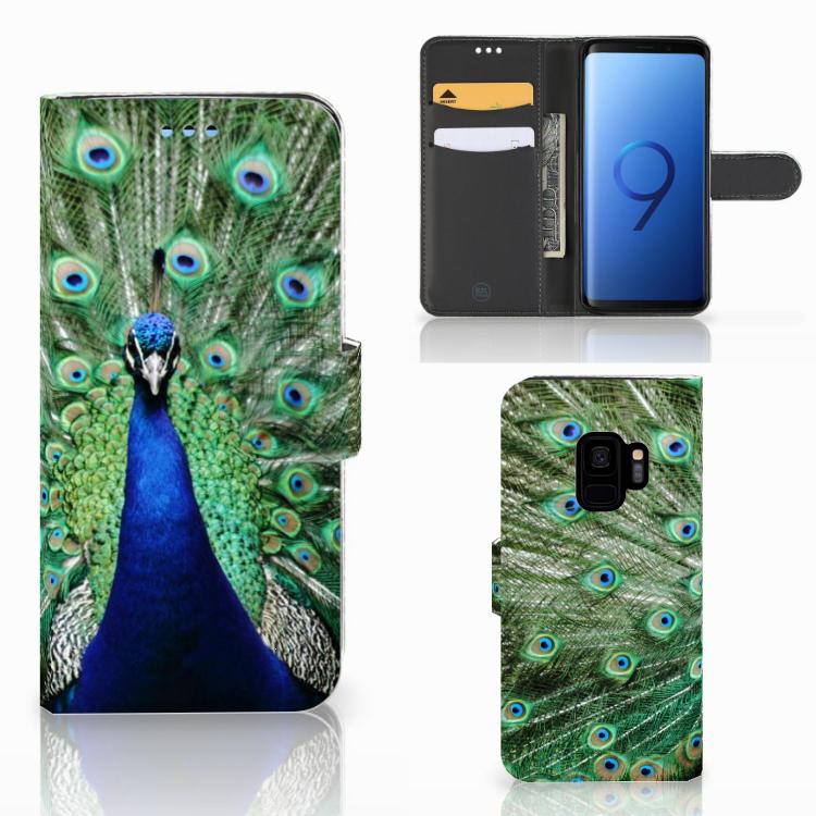 Samsung Galaxy S9 Telefoonhoesje met Pasjes Pauw