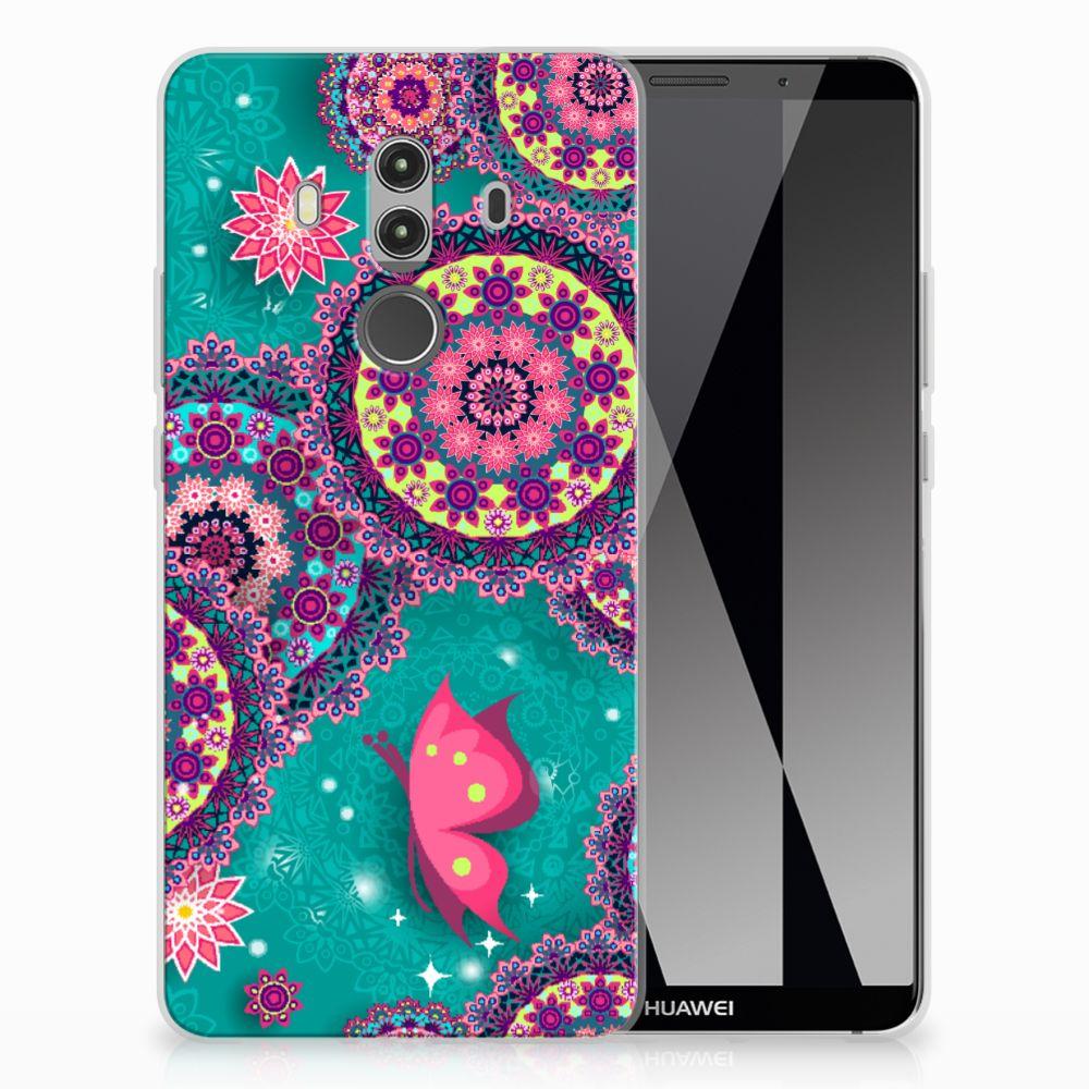 Huawei Mate 10 Pro Hoesje maken Cirkels en Vlinders