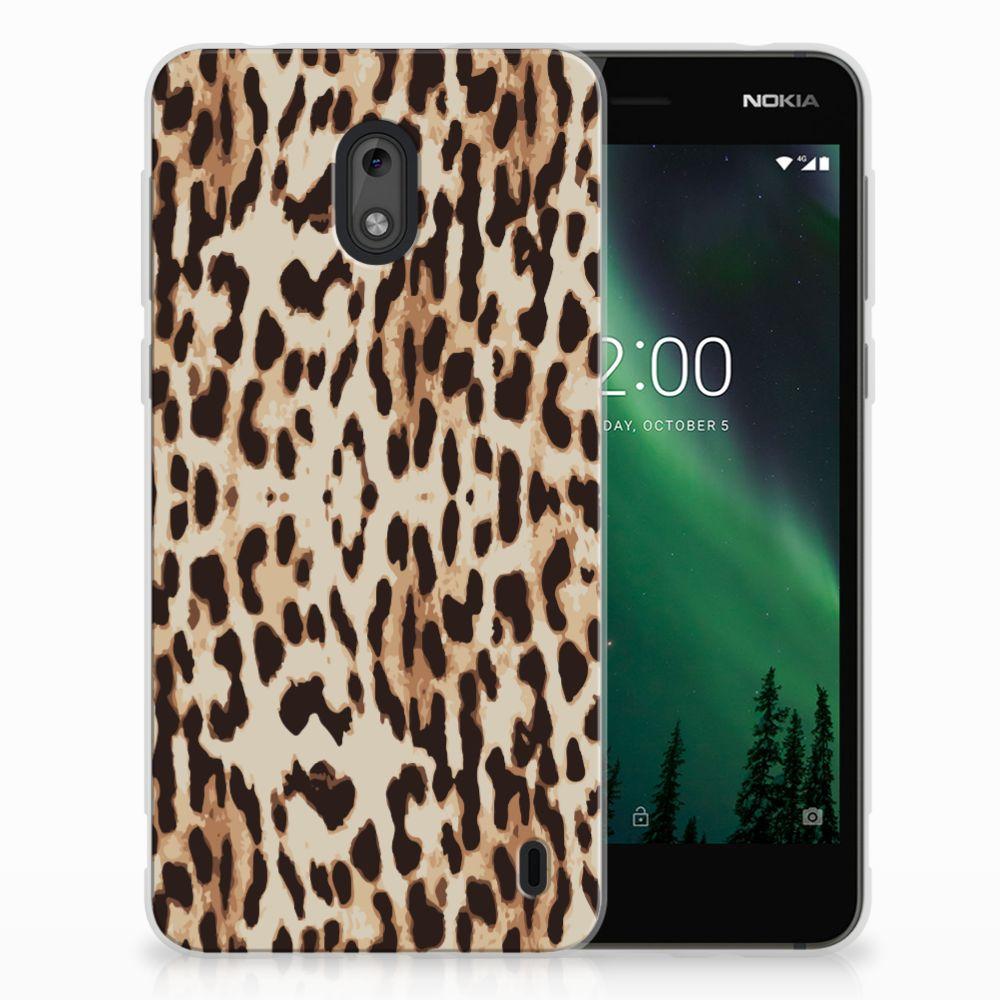 Nokia 2 Uniek TPU Hoesje Leopard