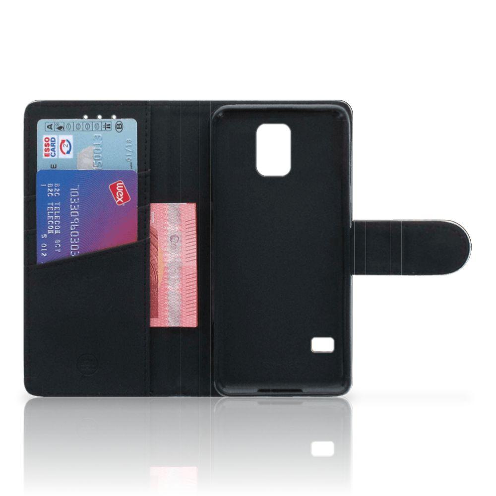 Samsung Galaxy S5   S5 Neo Telefoonhoesje met Pasjes Luipaard