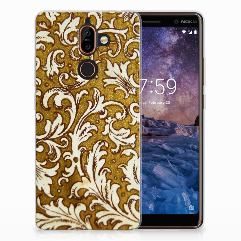 Siliconen Hoesje Nokia 7 Plus Barok Goud