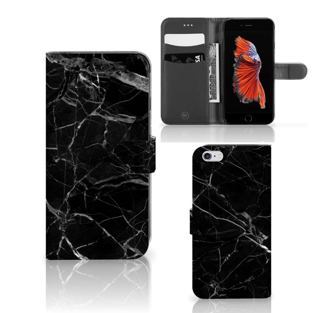 Apple iPhone 6 Plus | 6s Plus Bookcase Marmer Zwart