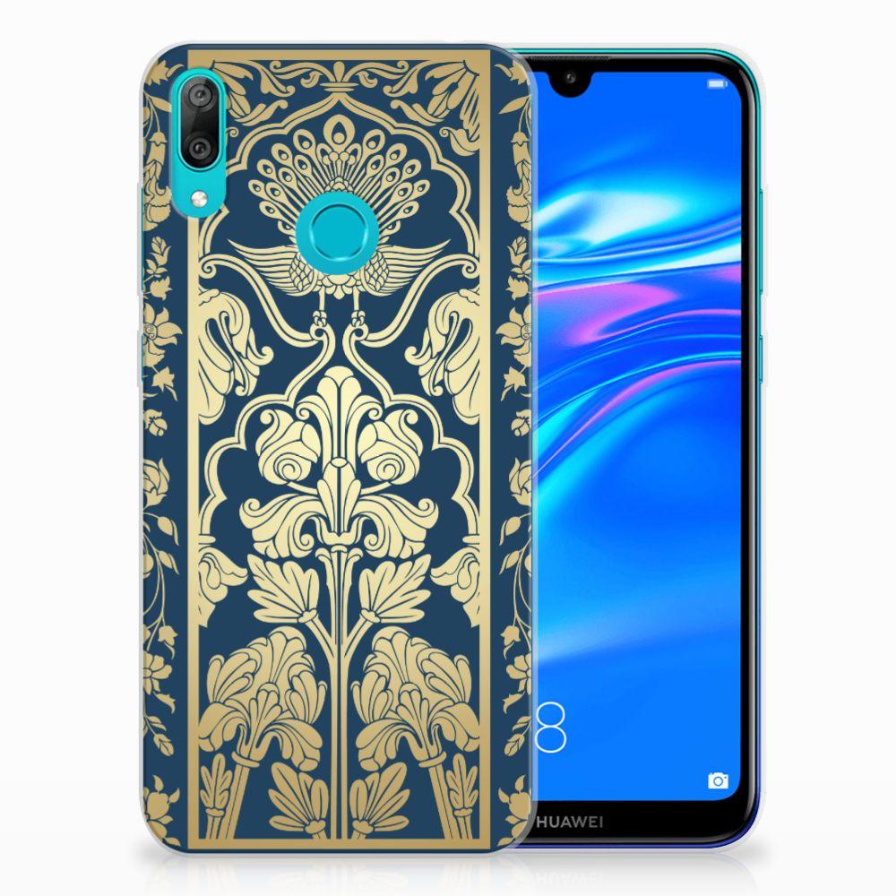 Huawei Y7 2019 TPU Case Golden Flowers