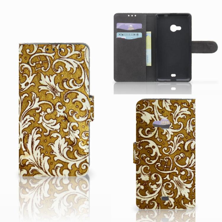 Wallet Case Microsoft Lumia 535 Barok Goud