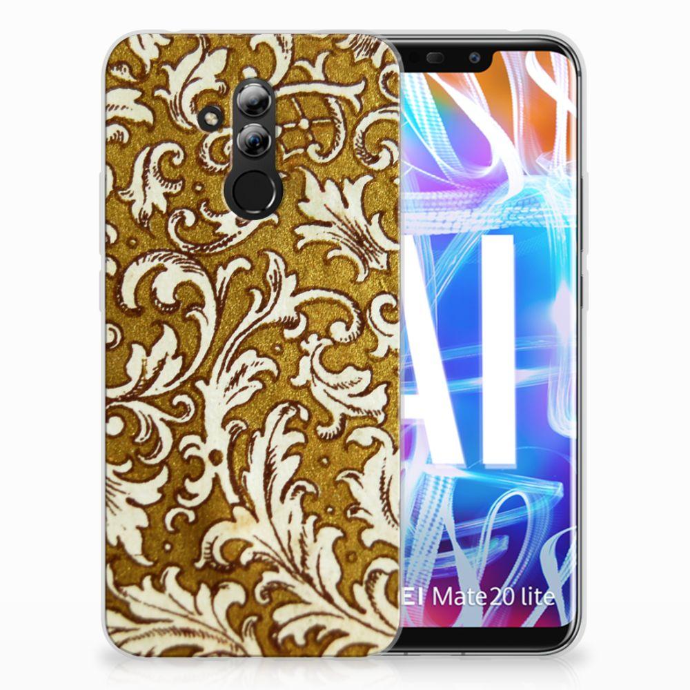 Siliconen Hoesje Huawei Mate 20 Lite Barok Goud