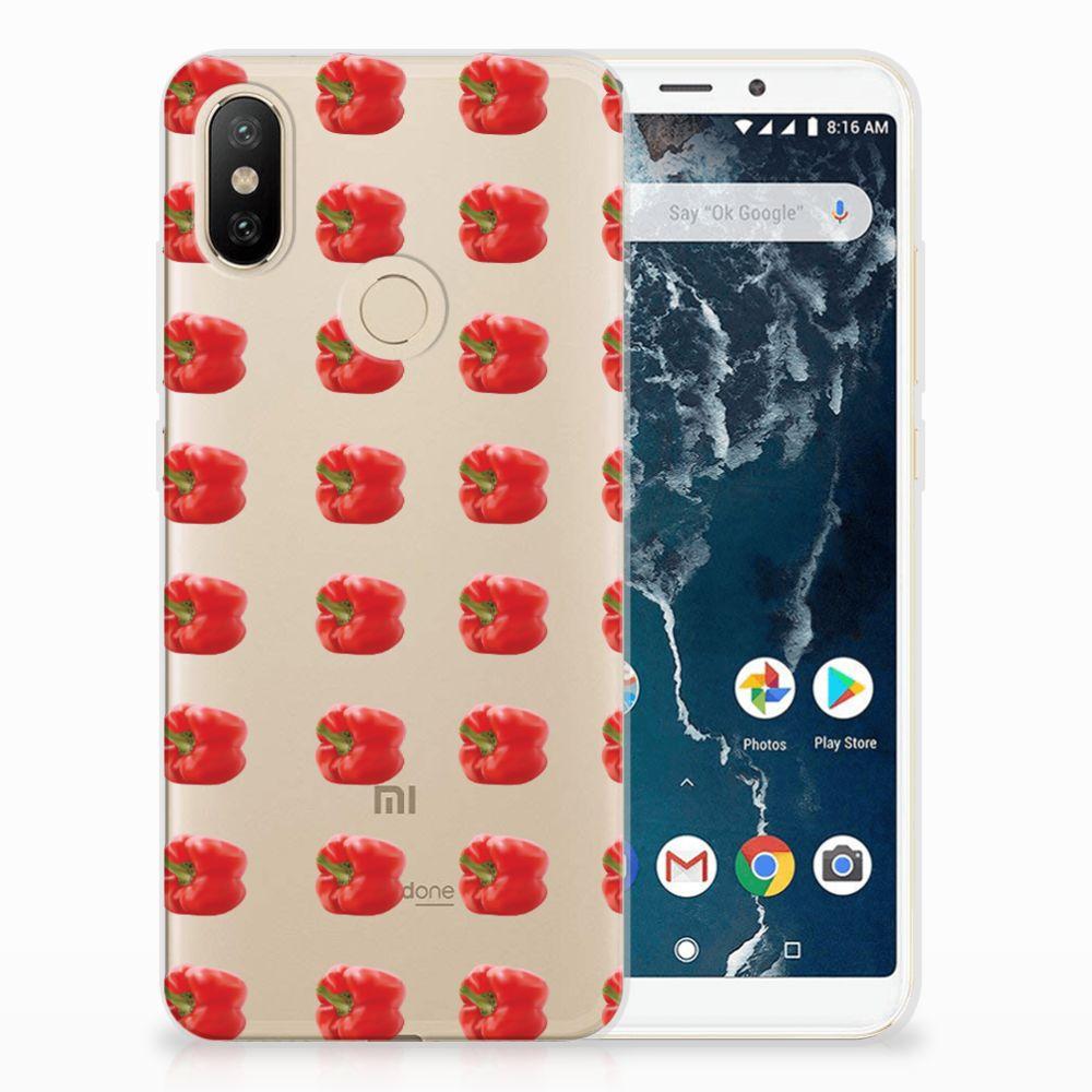 Xiaomi Mi A2 Siliconen Case Paprika Red