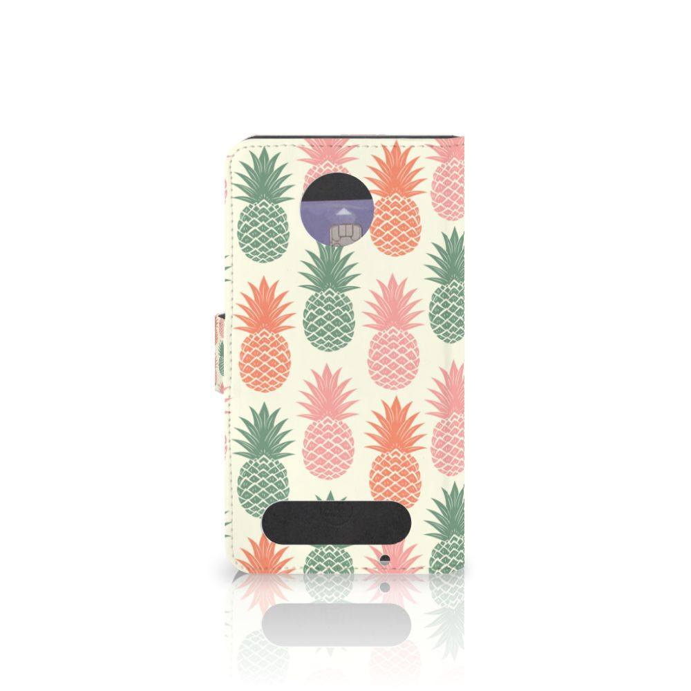 Motorola Moto Z2 Force Book Cover Ananas