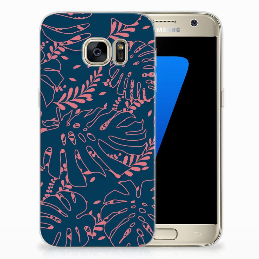 Samsung Galaxy S7 TPU Hoesje Design Palm Leaves