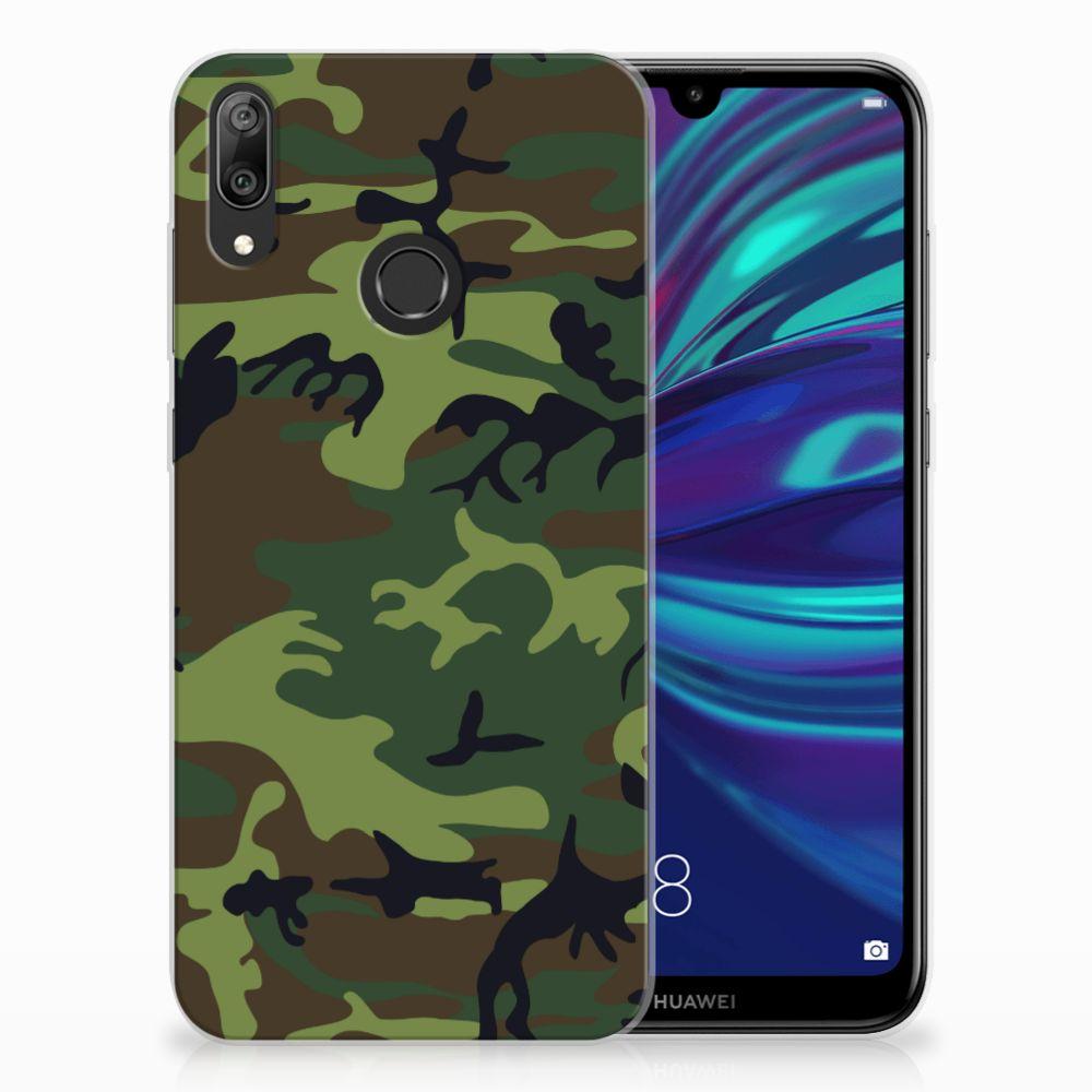 Huawei Y7 2019 TPU Hoesje Design Army Dark