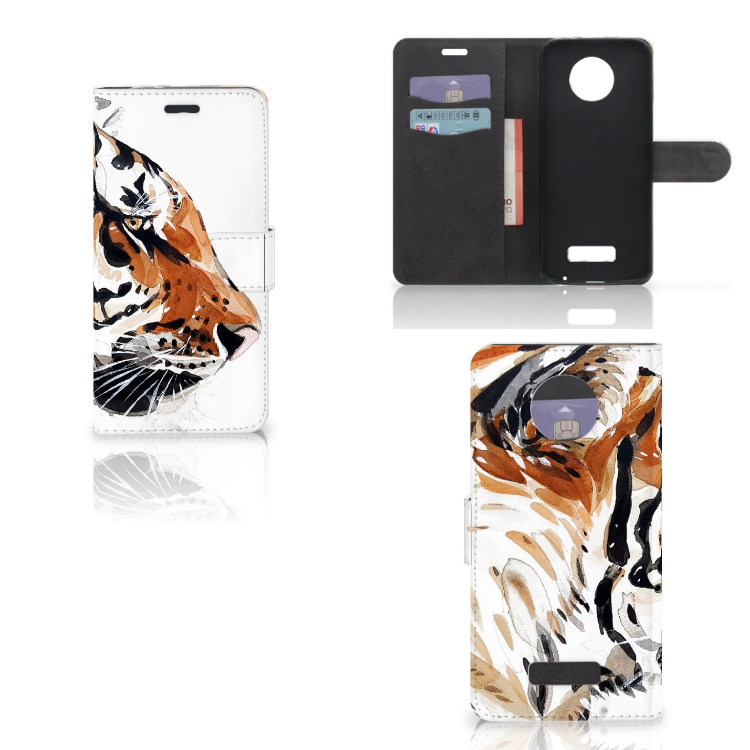 Hoesje Motorola Moto Z Watercolor Tiger
