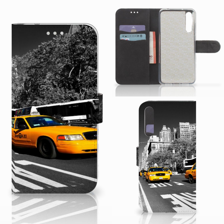 Huawei P20 Pro Flip Cover New York Taxi