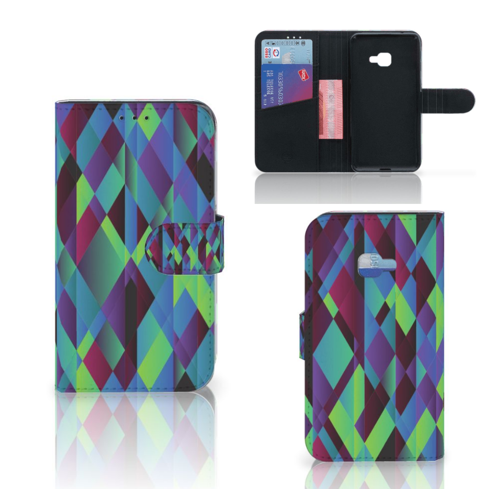Samsung Galaxy Xcover 4 | Xcover 4s Bookcase Abstract Green Blue