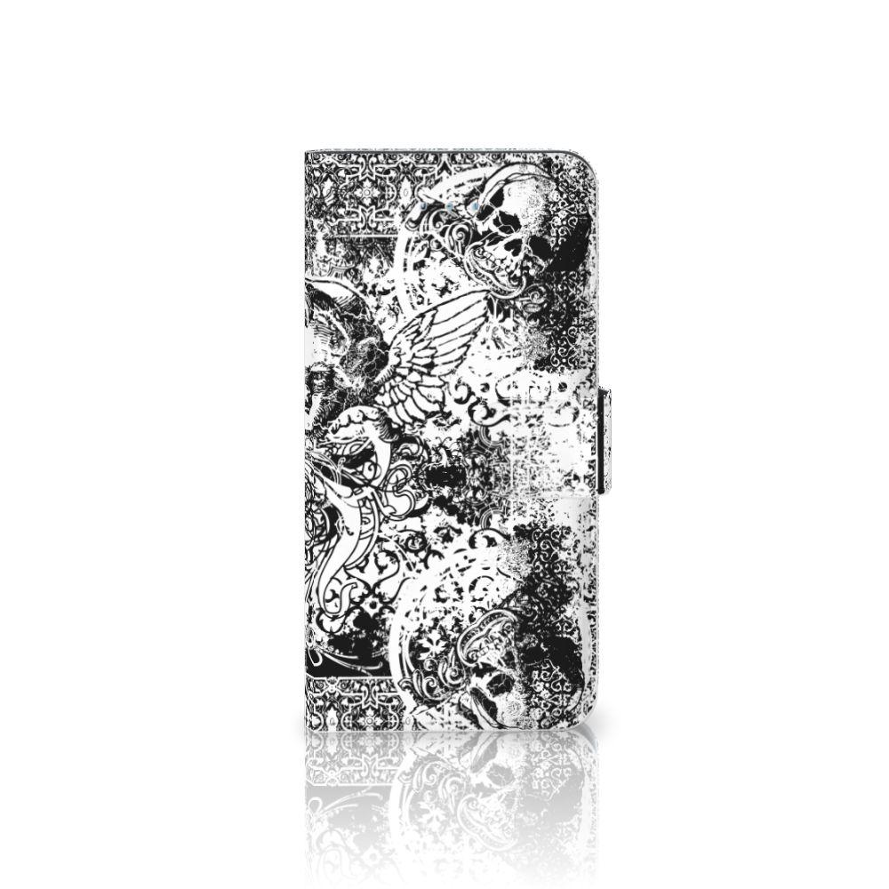 Telefoonhoesje met Naam Honor 4A | Y6 Skulls Angel