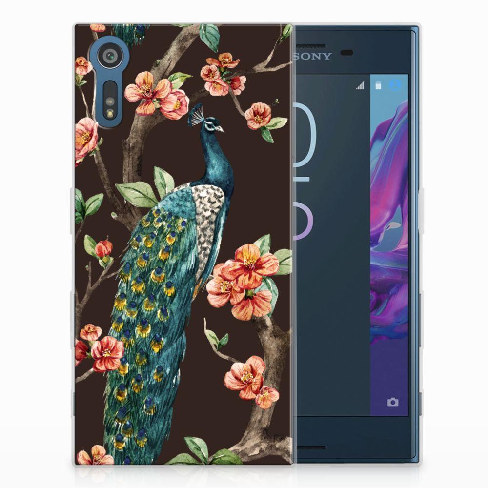 Sony Xperia XZs | XZ TPU Hoesje Design Pauw met Bloemen