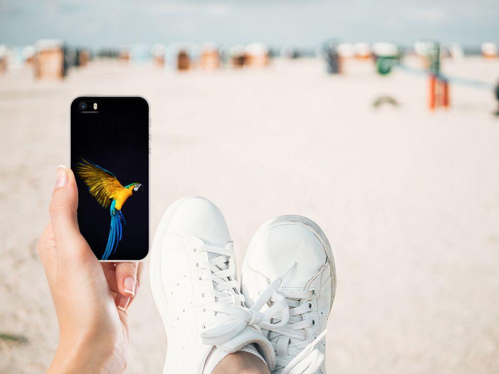 Apple iPhone SE | 5S TPU Hoesje Papegaai