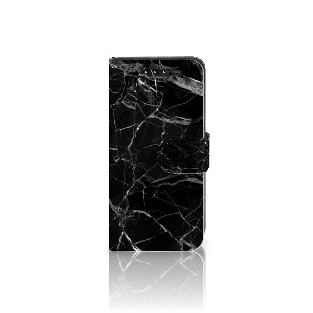 Samsung Galaxy S6 Edge Uniek Boekhoesje Marmer Zwart