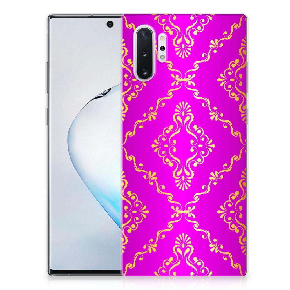 Siliconen Hoesje Samsung Galaxy Note 10 Plus Barok Roze