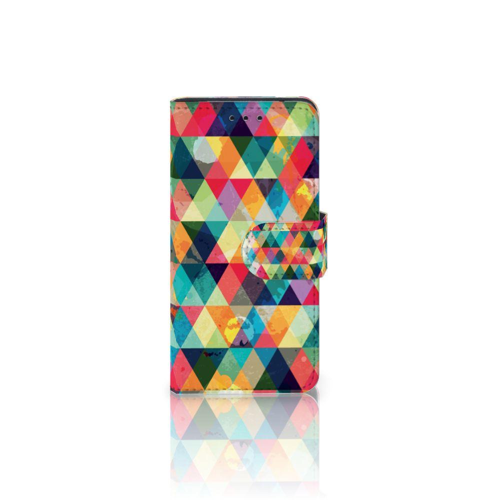 Samsung Galaxy S5 Mini Uniek Boekhoesje Geruit