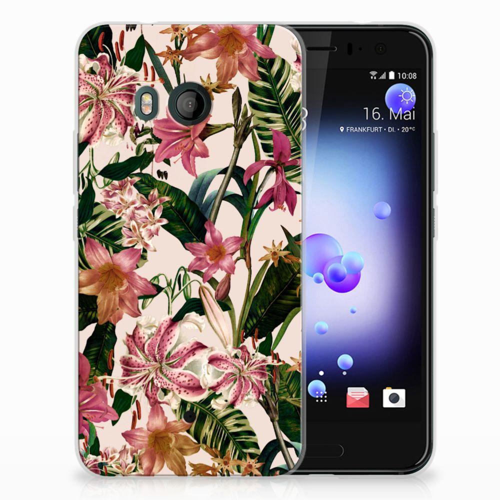 HTC U11 Uniek TPU Hoesje Flowers