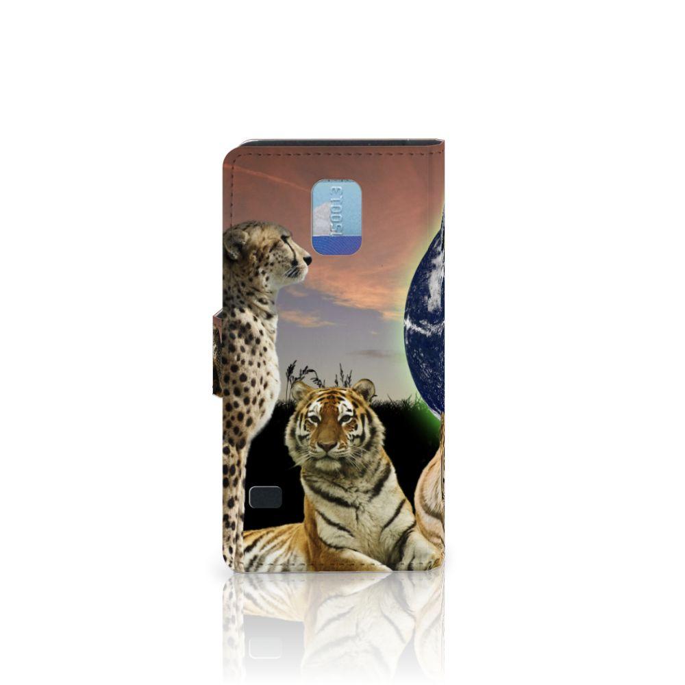Samsung Galaxy S5   S5 Neo Telefoonhoesje met Pasjes Roofdieren