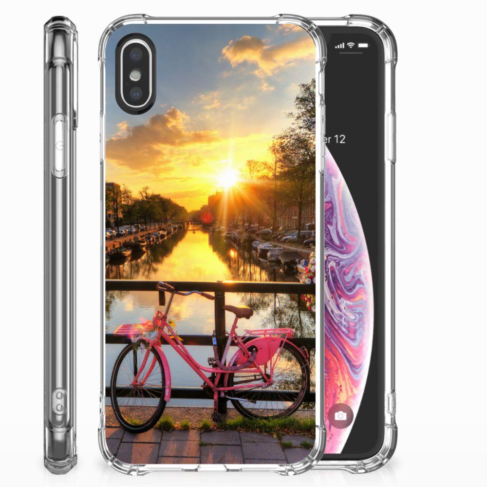 Apple iPhone X | Xs Telefoonhoesje met valbescherming Amsterdamse Grachten
