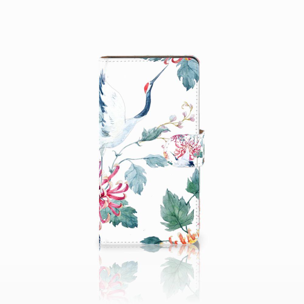 Huawei Ascend G700 Uniek Boekhoesje Bird Flowers