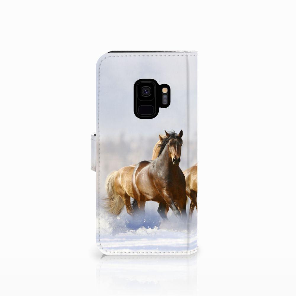 Samsung Galaxy S9 Telefoonhoesje met Pasjes Paarden