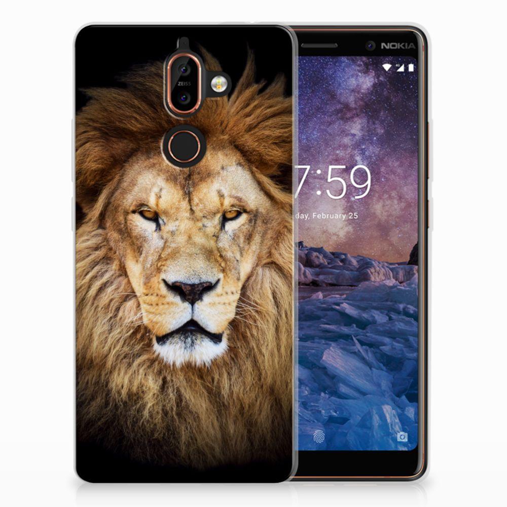 Nokia 7 Plus TPU Hoesje Leeuw