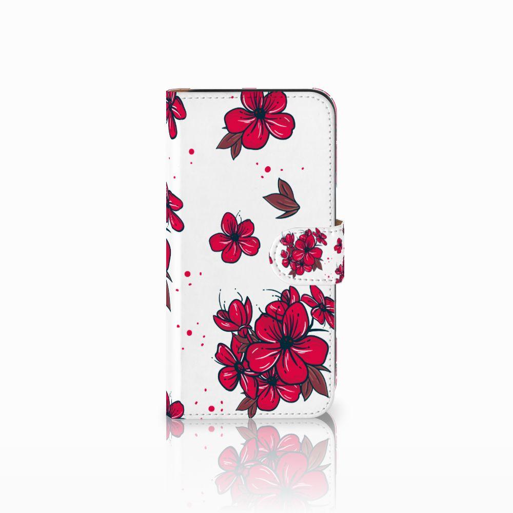 Samsung Galaxy E5 Boekhoesje Design Blossom Red