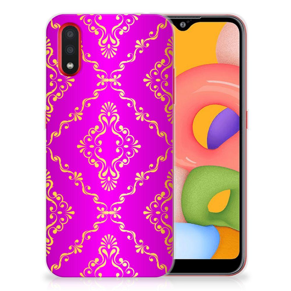 Siliconen Hoesje Samsung Galaxy A01 Barok Roze