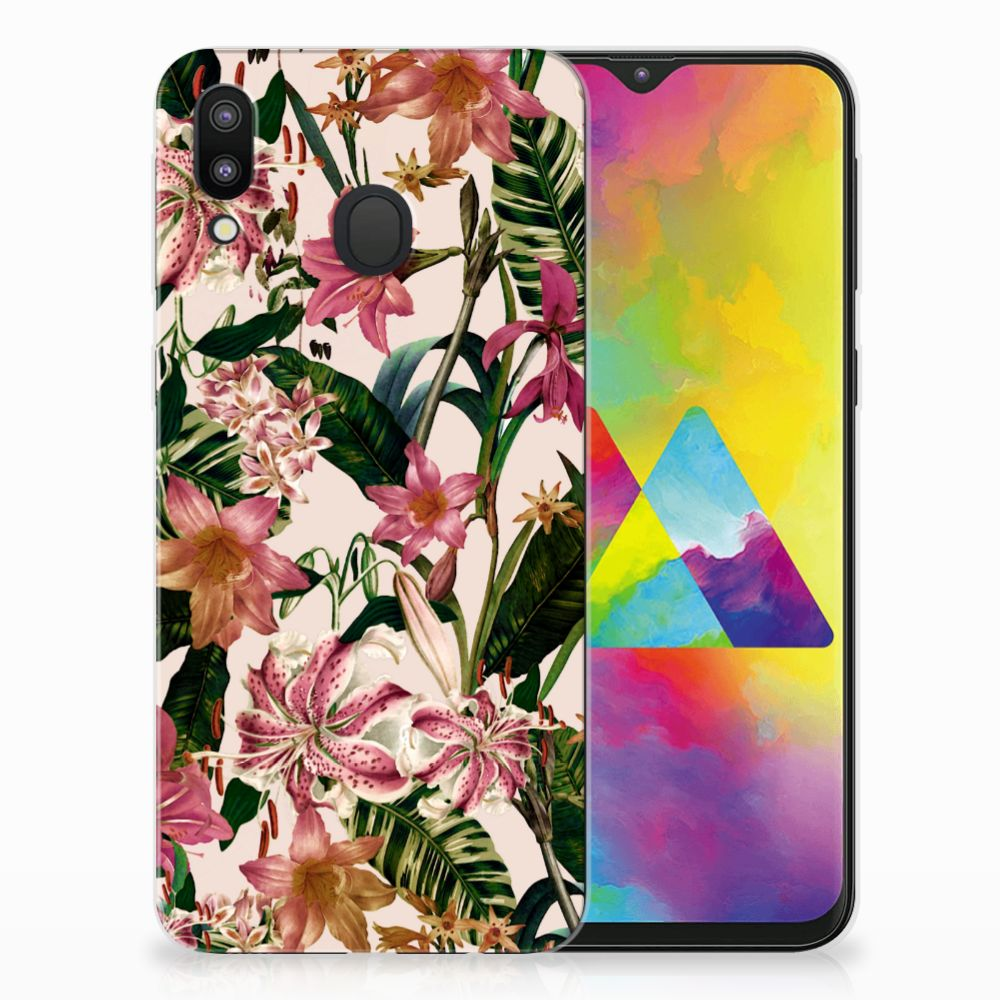 Samsung Galaxy M20 Uniek TPU Hoesje Flowers