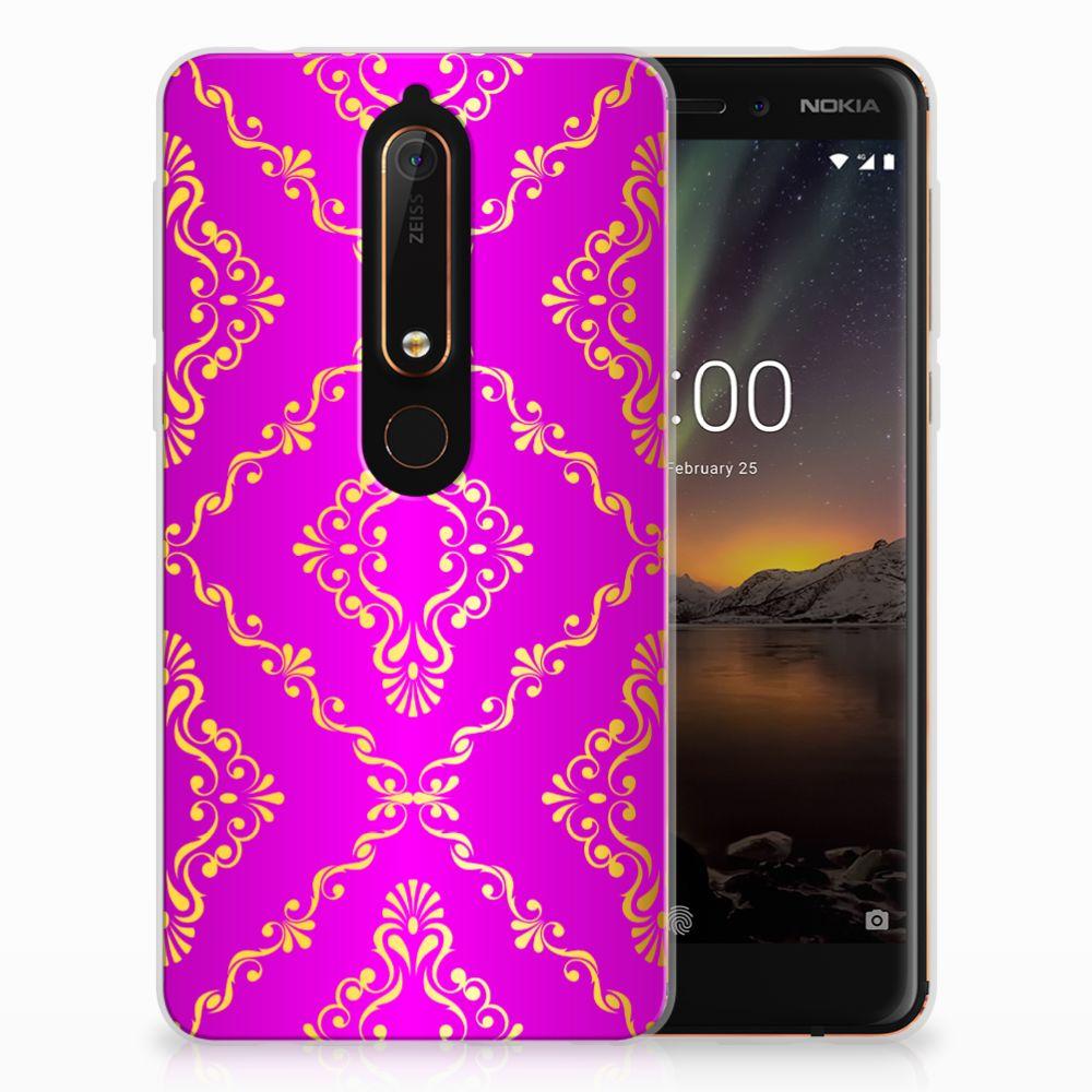 Siliconen Hoesje Nokia 6 (2018) Barok Roze