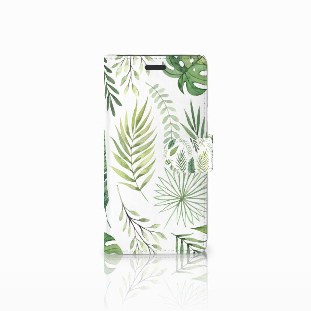 Samsung Galaxy Note 5 Uniek Boekhoesje Leaves