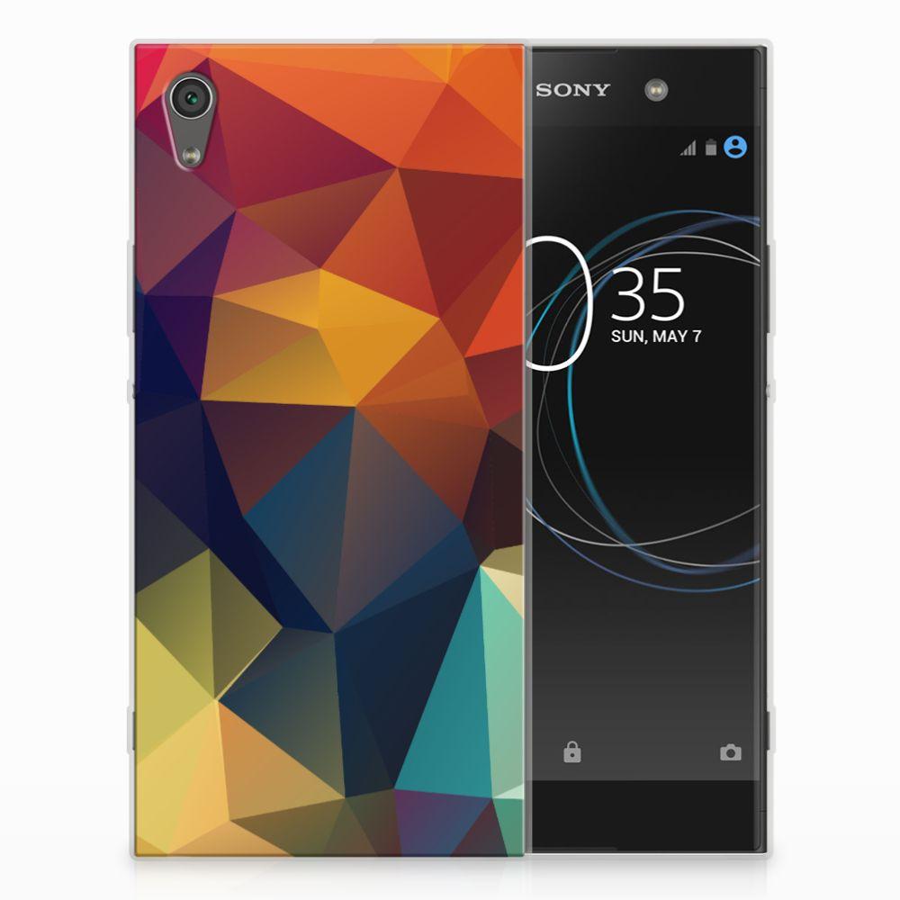 Sony Xperia XA1 Ultra TPU Hoesje Polygon Color