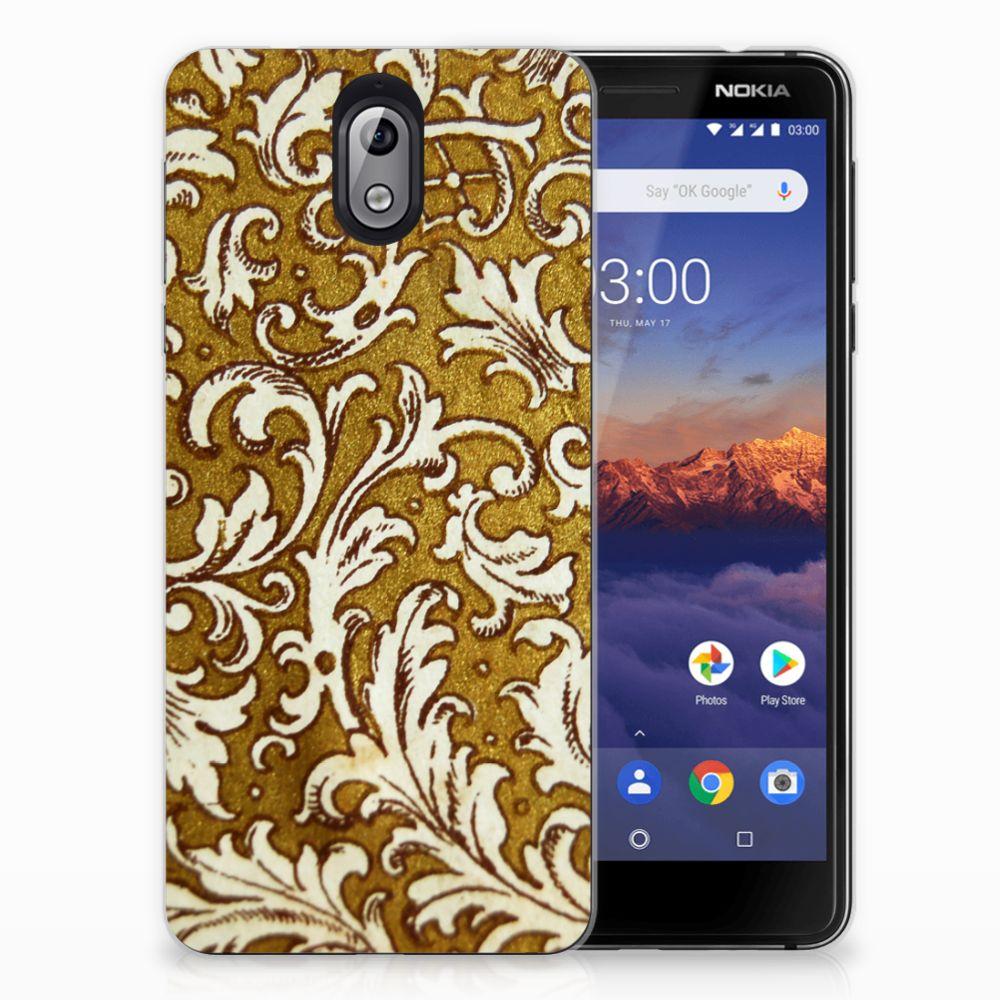 Siliconen Hoesje Nokia 3.1 (2018) Barok Goud