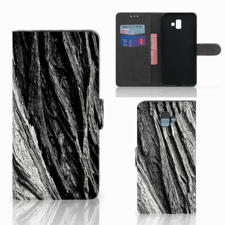 Book Style Case Samsung Galaxy J6 Plus (2018) Boomschors Grijs